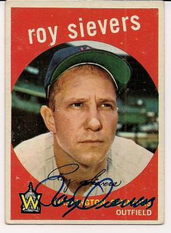 Former Washington Senator and Phillie first baseman Roy Siever later scouted me as a player in high school.
