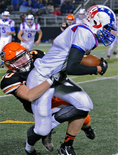 Ryan Vagedes was a big part of the Coldwater defense.