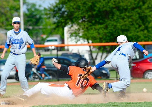 Coldwater was aggressive on the bases, dictating the pace of the game and forcing Elmwood mistakes.