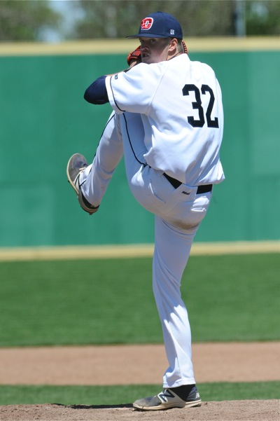 Freshman R.J. Wagner pitched the first six innings, giving up two runs while scattering nine hits.