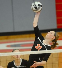 Cassie Meyer helped Jackson Center to consecutive state titles in volleyball.