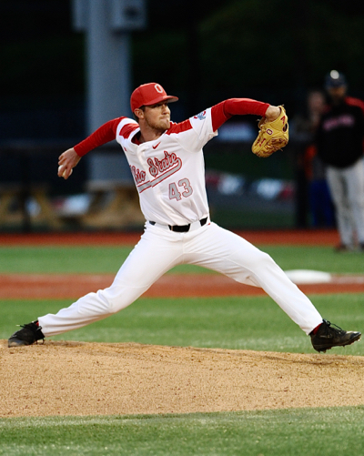 Adam Niemeyer made his first appearance on the mound since the weekend series with Xavier in March.