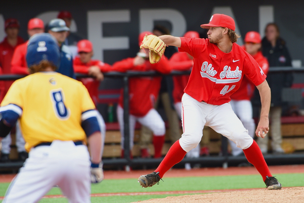 Connor Curlis saw a competitive start go for naught on another tough day for the Buckeyes.