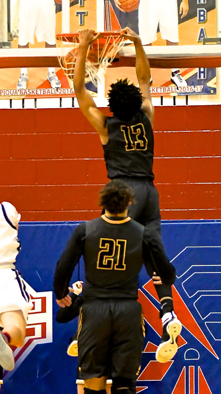 Ratez Roberts takes one to the rim.
