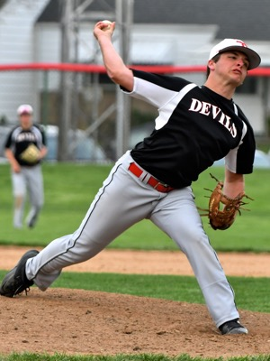 Red Devil senior pitcher