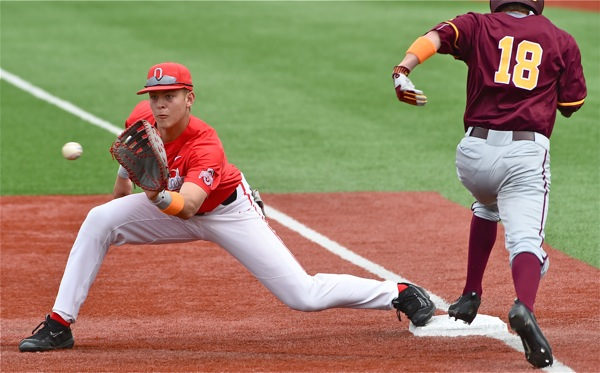 He saw time at first and second last spring, but Conner Pohl is honing his skills now to play third base, come spring.