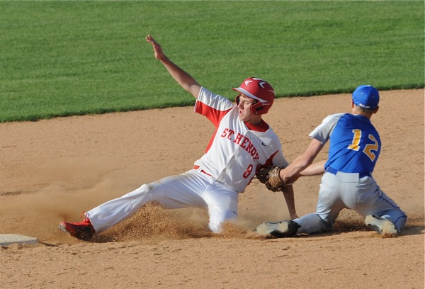 Not much offense...St. Henry scored single runs in the first and the fourth - and had little more going on after that.