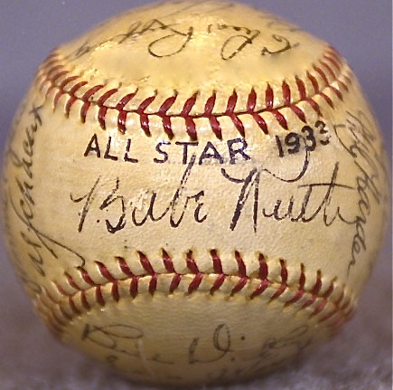Memento from the very first All-Star game, played in 1933 at Chicago's Comiskey Park.