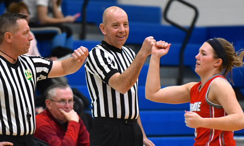 Brooke Aselage, a sophomore put up 10 points for the Red Devils.