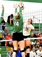 Marion Local Sweeps Rockets In Saturday Volleyball