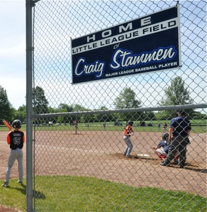 The field in North Star bears the name of favorite son, and Cleveland Indians pitcher, Craig Stammen.