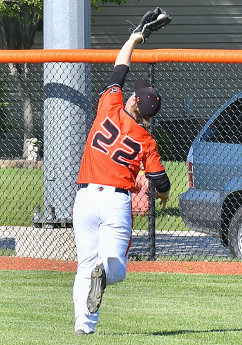 Coldwater's Brad Giere makes a play on a ball in Monday's win over Marion.