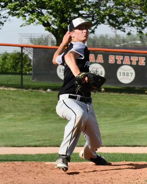 Parkway's Trace Walls beat the wind and Fort Recovery to send the Panthers into Friday's Division IV district final.
