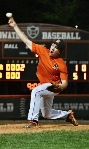 Aaron Ernst allowed just five hits, and none in the final three innings.