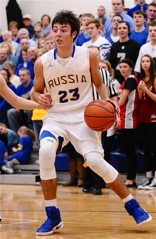 Russia's Jack Dapore had five 'three-pointers', and finished with a game-high 21 points.