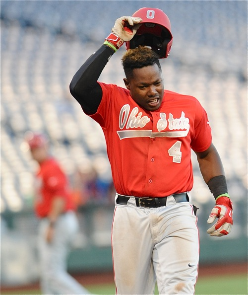 Ronnie Dawson last likely tipped his cap to his OSU career, a prospect to be taken high in next week's MLB draft.