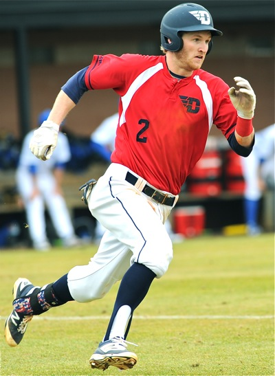 """Senior Robbie Doring returns to the Dayton lineup in 2017, """"Overall, our best baseball player,""""  says coach Tony Vittorio."""