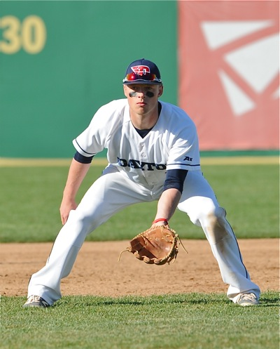 Sidney's Connor Echols played a solid third base in 2016, but the versatile soph will be moved to the outfield to start the 2017 season.