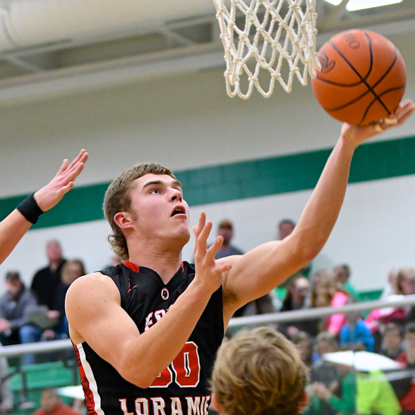 Ft. Loramie's Tyler Siegel was top scorer of the game Friday night... with 20 points.
