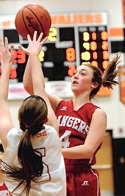 "New Knoxville's Kenzie Schroer averaged 15 points a game for the Rangers.  ""No one plays harder,""  says one league observer. ""And she could have easily have scored more.  She's that kind of player."""