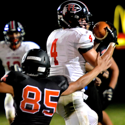 DB Nick Brandewie had other ideas as he picked off a Huelsman pass
