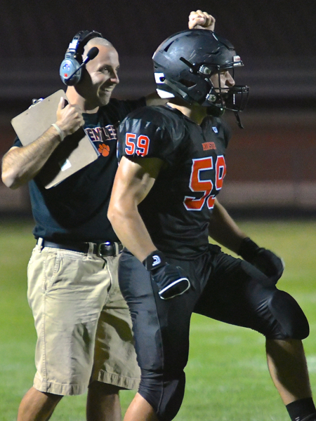 Minster Head Coach Geron Stokes applauded the conditioning of his team.