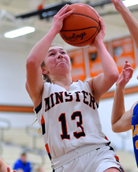 Minster Rebounds…Wins Over Marion Local