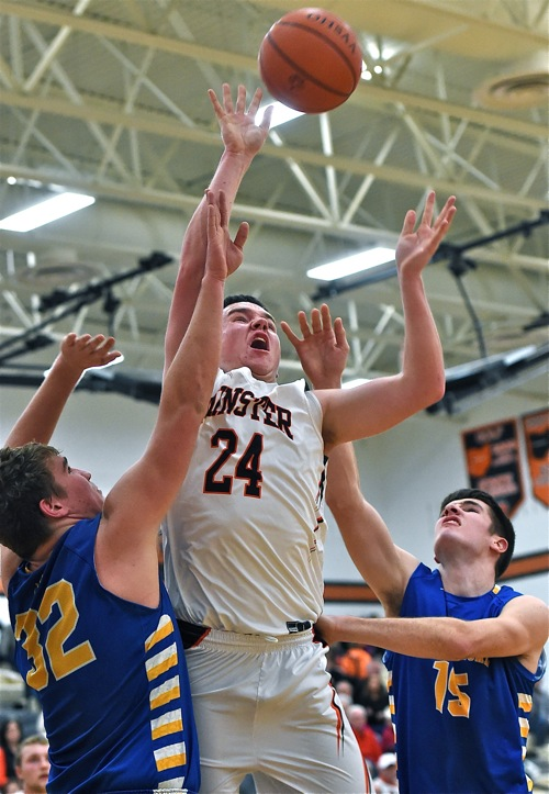 Aaron Ernst fought through Marion's interior defense for two of his 17 points.