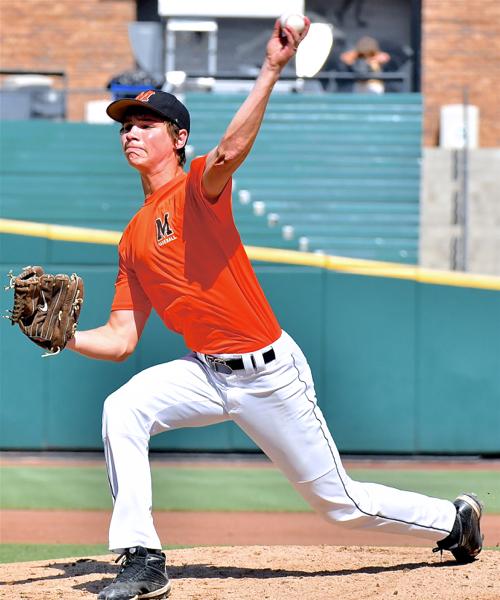 Jack Heitbrink, another sophomore, pitched Minster to its third state title with a complete game five-hitter.