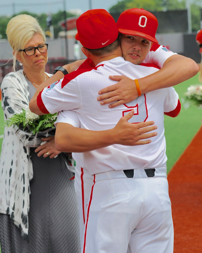 Momma Post tearfully watches on as Jake gives one last hug to