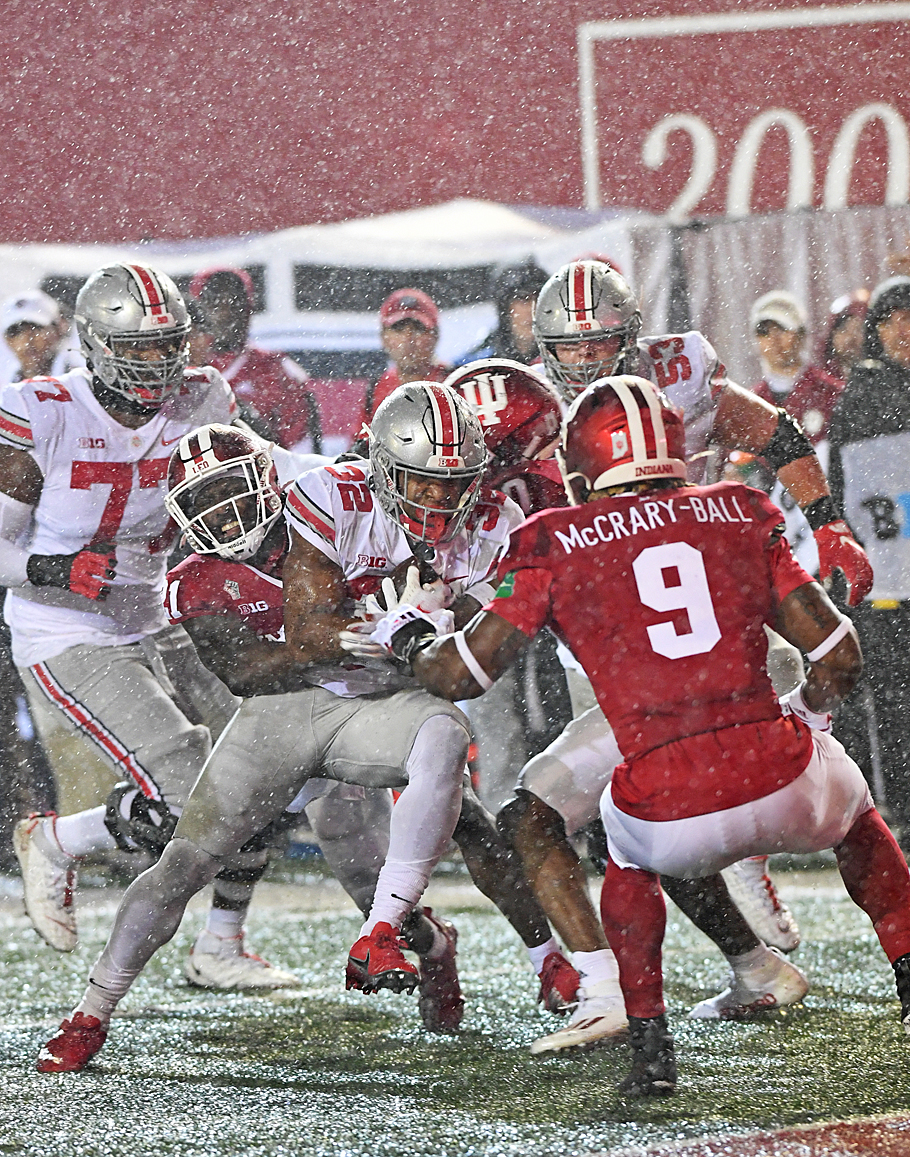 In Synch Ohio State Shows Indiana Who's Boss, 54-7
