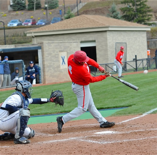 Noah McGowan launches the third of his second-game home runs to give the Bucks a 5-4 ninth inning lead.