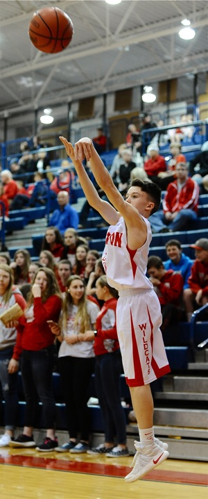 """Sophomore Tristan Freistuhler snapped off a pair of three's and said later, """"Our season is not"""