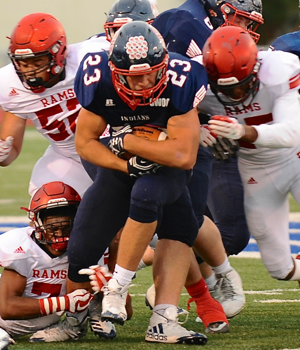 Ben Schmiesing led the Indians with 56 yards on 16 attempts.