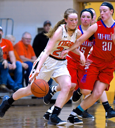 JC's Cassie Meyer is leading scorer of the night with a total of   points.