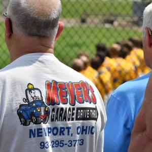 Russia fan sporting a SCL-PressPros Sponsor - Meyers Garage - in Newport, Ohio