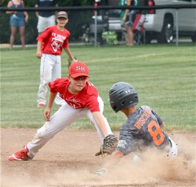Boys playing baseball at this weekend's Craig Stammen Classic tourney.
