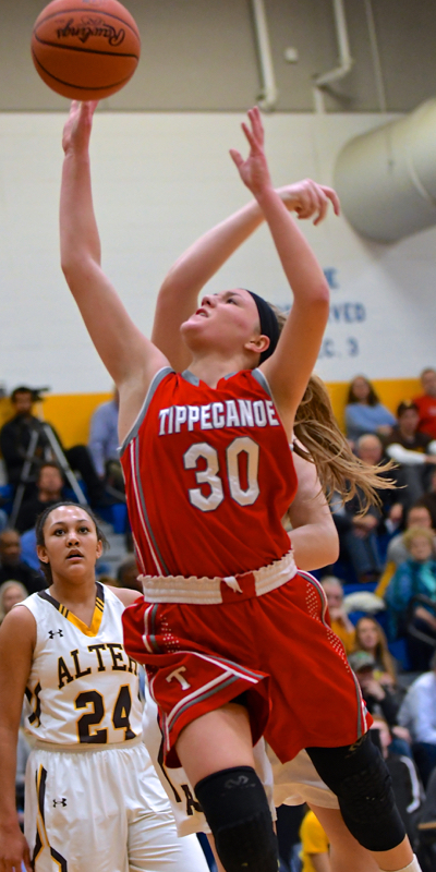 Allison Mader, a junior led the Red Devils with 17 points.