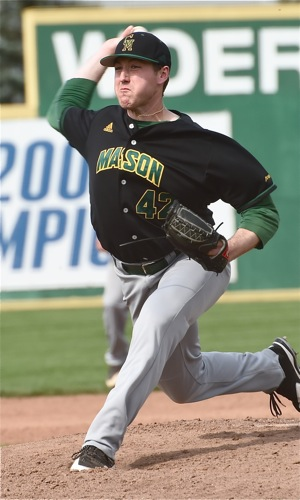 George Mason's Tyler Zombro (4-0) was ranked in the top 5 of A-10 pitchers with a 0.39 ERA.