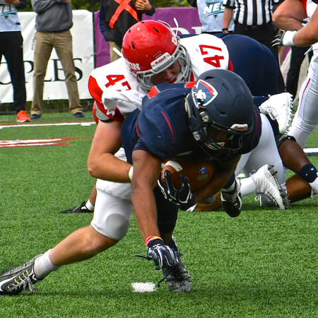 Andrew McCormick led in tackles with 5 assist, 6 solo and 1 sack.