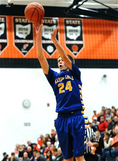 Marion sophomore Tyler Prenger supplied the game's surprise performance - six made 'threes' and 20 points.