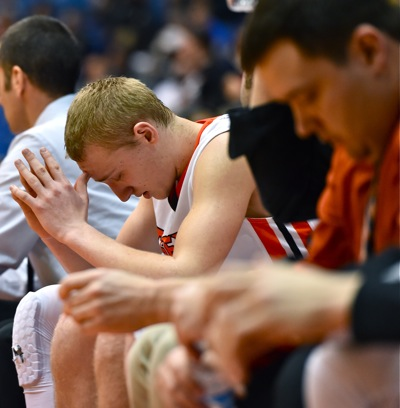 As the lead dwindled in the second half, there was cause for a little divinity on the bench.