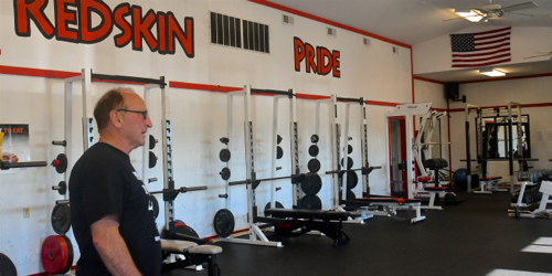 Along with the New and Improved weight room...