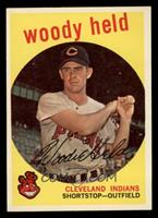 Infielder Woody Held, as he appeared on the iconic set of 1959 Topps cards.