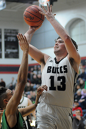 Covington's Trevor Miller got off to a torrid start, but was forced to the bench early with foul trouble.