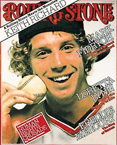 Mark Fidrych became the first baseball player ever featured on the cover of Rolling Stone magazine in 1976.