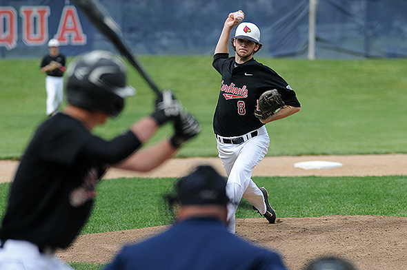 Triad's Shane Ford gave Fort Loramie fits through the first four innings, but the Redskins were finally able to time him up in a three-run fifth.