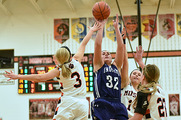 """""""Defense Wins Championships"""" and the defensive effort by Minster in contesting shots of Joceylyn Kaiser and Fort Recovery led to a league title."""