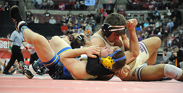 He was on the mat in less than a minute, but Kaleb Romero thrilled the Schottenstein crowd with a pin to claim his fourth state wrestling title.